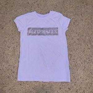 Little girls purple #literally T-shirt